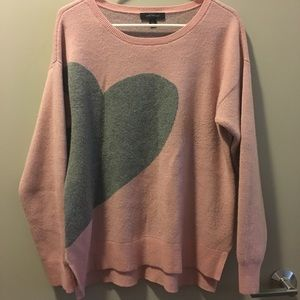 Ann Taylor Graphic Heart Sweater